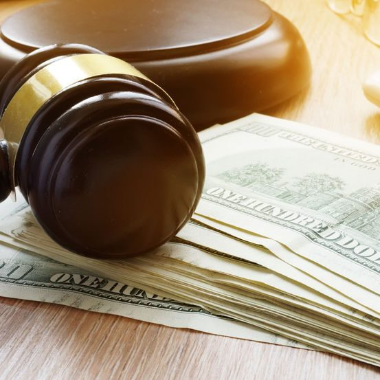 A Gavel With Money