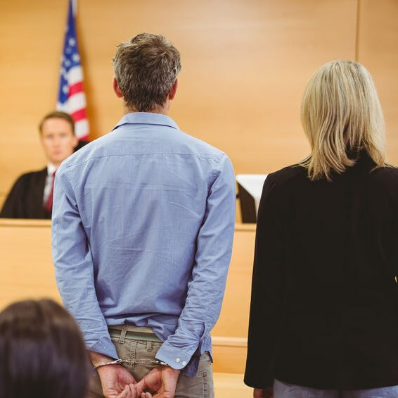 Man in court in front of judge